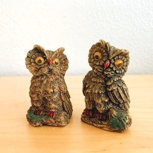 Small Decorative Owls Set of 2